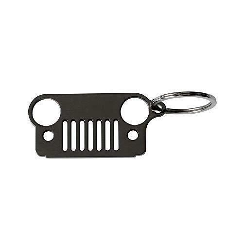 Car Stainless Steel Keyring Grill KeyChain For Jeep Wrangler CJ JK JKU TJ YJ XJ