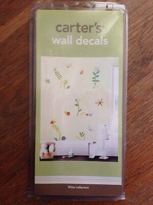 Carter's Flutter Collection Wall Decals Self-stick Reusable ~ Retail $19.99 Online Shop Baby