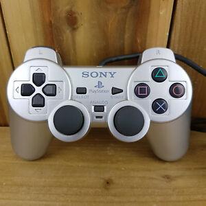 Controlador De Plata Playstation 2 PS2 Trabajo Hombro del botón que falta leer Descr