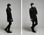 thumbnail 2 - Wool Blend Stand Collar Coat Slim Fit Jacket Men's Mid Length Parkas Asymmetric