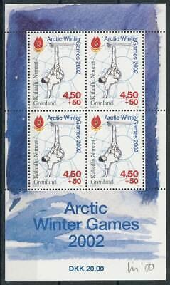 245044 Dänemark Dänemark Grönland Block 21** Arktische Winterspiele Briefmarken