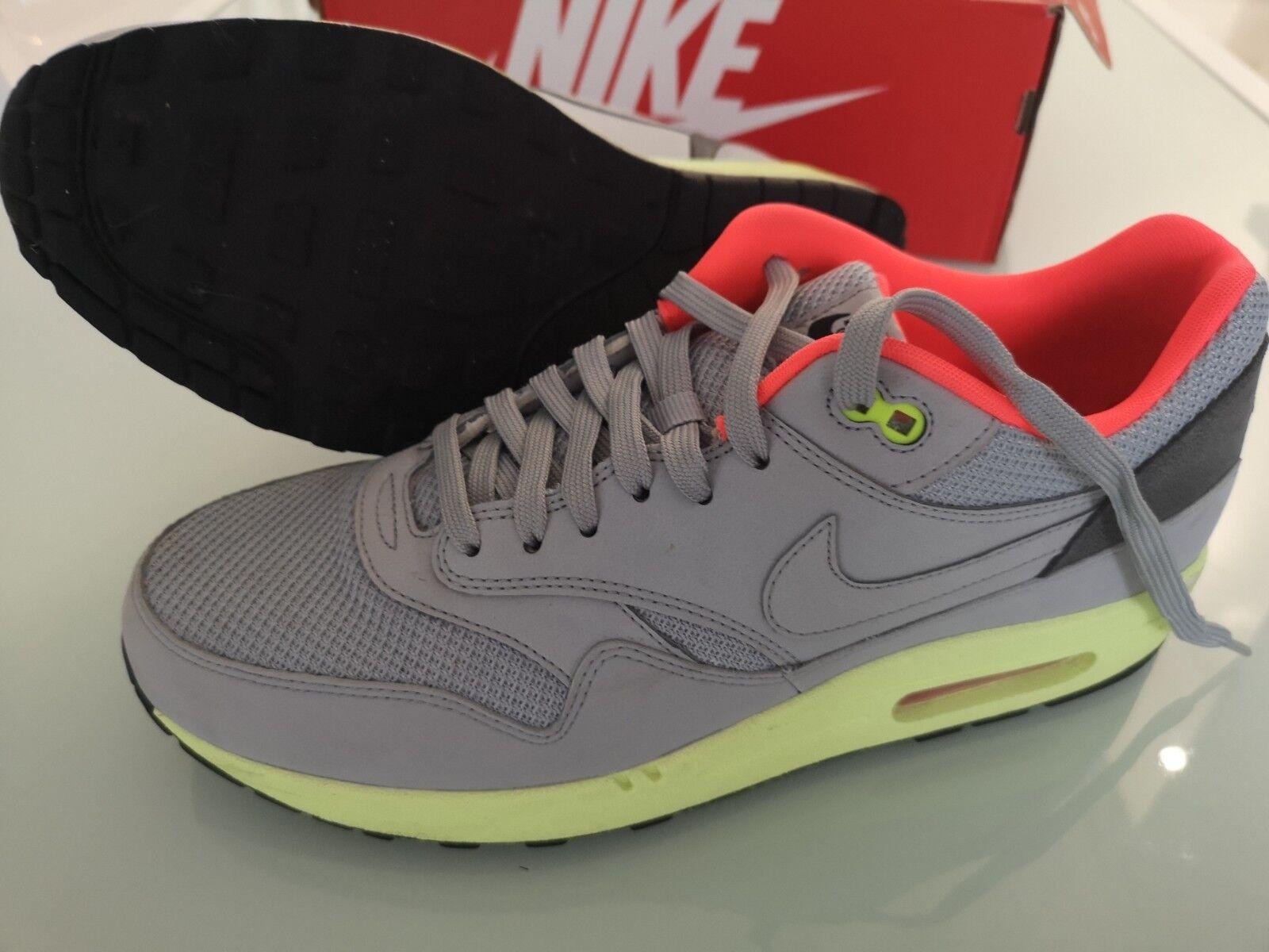 Nike Air Max 1 FB Wolf COLOR GRIGIO/LIME TG UK, US 11 EUR 44.5