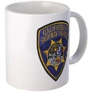 11oz Mug California Highway Patrol Patch Printed Ceramic