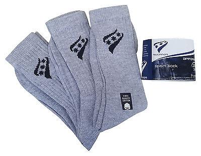 RUCANOR White Triple Pack Sport Socks With Logo Cotton Blend UK 6-8  MRRP£3-99