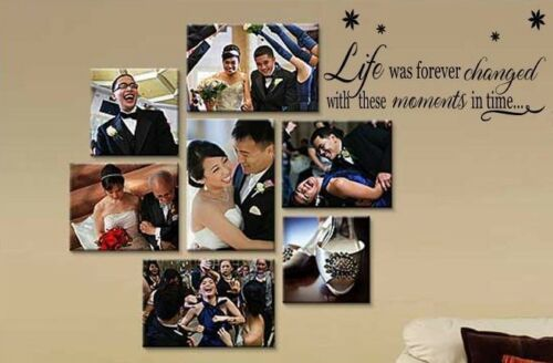 LIFE WAS FOREVER CHANGED MOMENTS Wall Decal Quote Words Lettering Decor Vinyl
