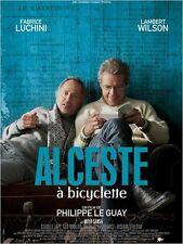 Affiche 40x60cm ALCESTE À BICYCLETTE 2013 Fabrice Luchini, Lambert Wilson NEUVE