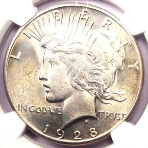 1928-Peace-Silver-Dollar-1-NGC-Uncirculated-Dets-Rare-1928-P-BU-MS-UNC-Coin