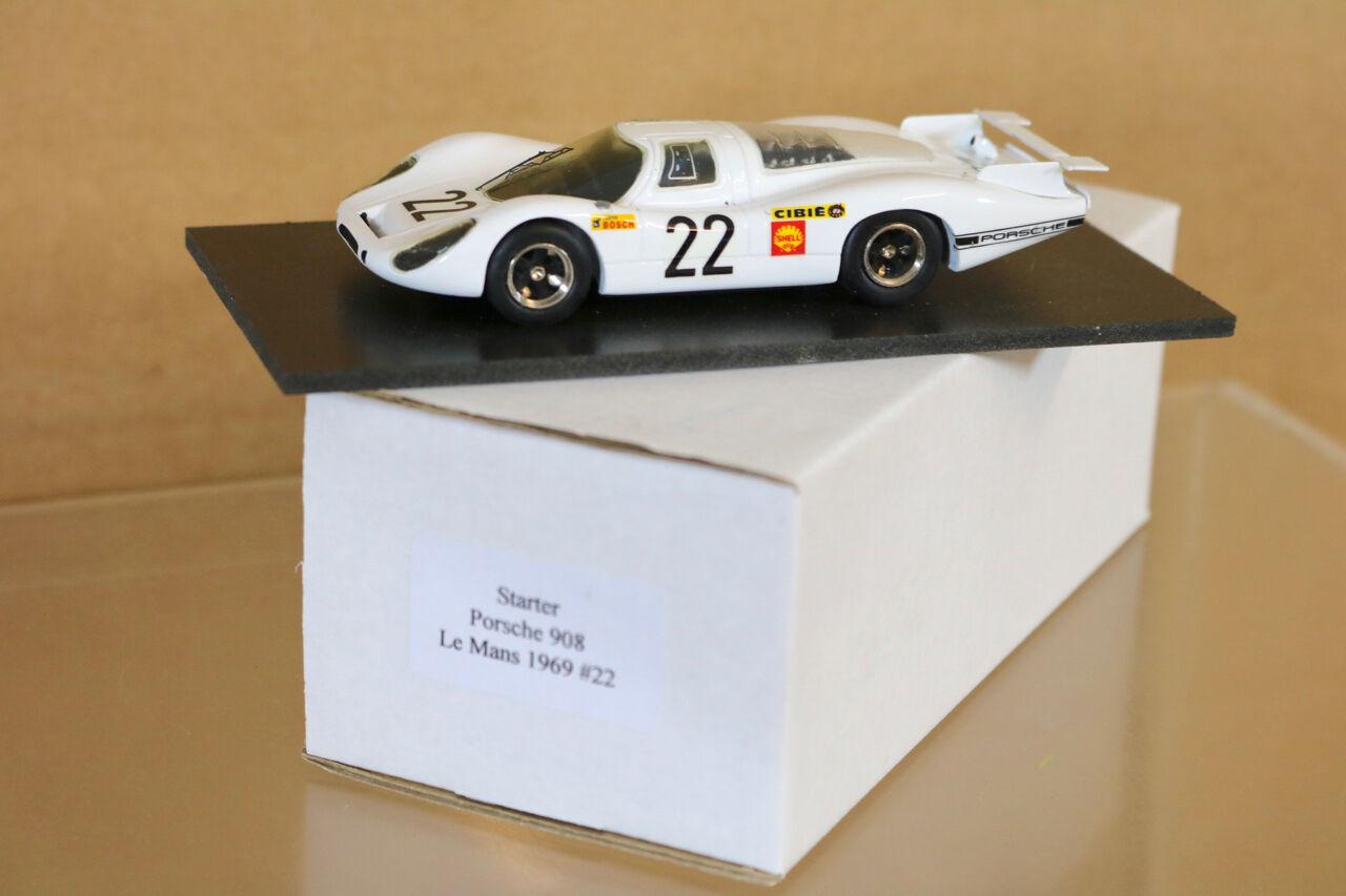 STARTER MODELS Le MANS 1968 PORSCHE 908 CAR 64 Lins Kauhsen DNF ng