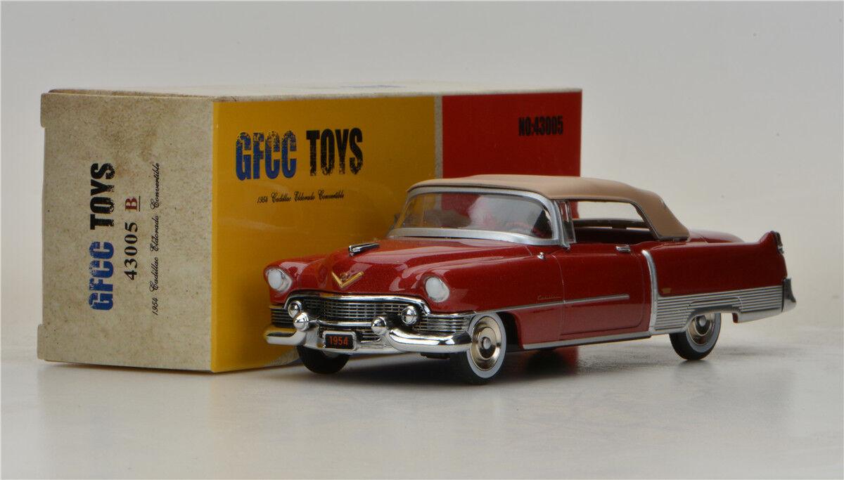 GFCC TOYS 1 43 1954 Cadillac Eldorado Congreenible  Alloy car model Dark Red