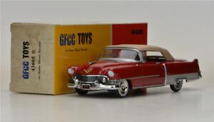 Gfcc-Juguetes-1-43-1954-Cadillac-Eldorado-descapotable-modelo-de-coche-de-Aleacion-Rojo-Oscuro