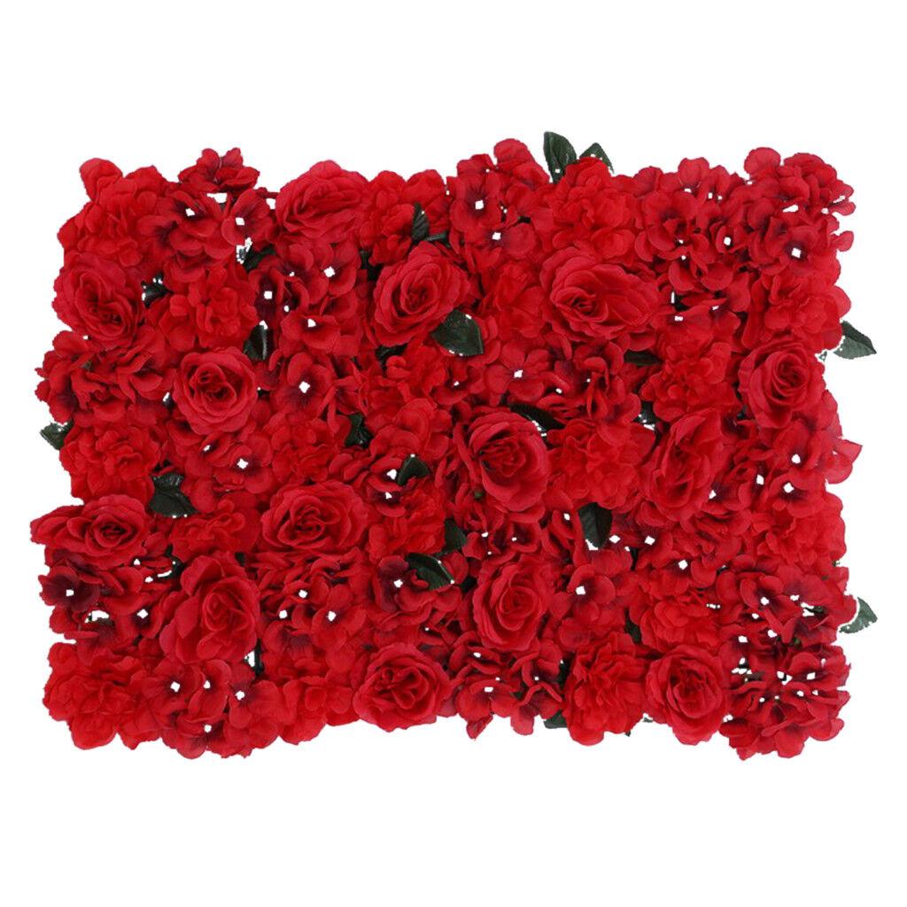 12stk. Rouge bleumenwand art fleurs deco mur pour bonbons Mur