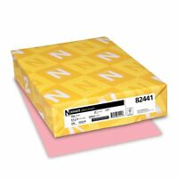 Neenah Exact Vellum Bristol, 67 Lb, 8.5 X 11 Inches, 250 Sheets, Pink , New, Fre on sale