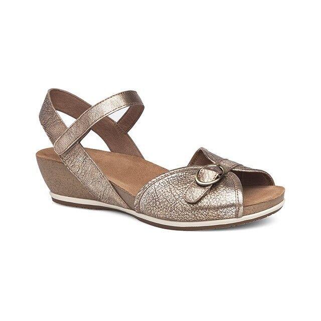Dansko Womens Vanna gold Leather Sandal EU 37 US 6.5-7