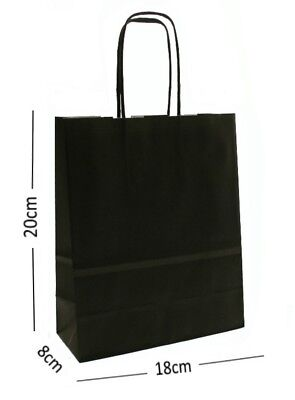 Natural Tan Birthday Party Gift Bags Kraft Paper Loot Gift Bag With Handles *