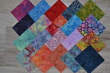 Lot de 20 coupons de Tissu Patchwork Batik