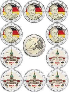Deutschland-2-EUR-2018-Schmidt-und-Charlottenburg-10-Muenzen-Mzz-ADFGJ-in-Farbe