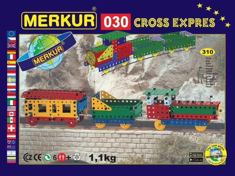 Metal construction set Merkur Cross Express, 1,1 kg, NEW, made in CZECH REPUBLIC