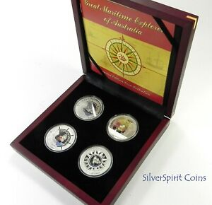 2006-GREAT-MARITIME-EXPLORERS-4-Coin-Silver-Proof-Set