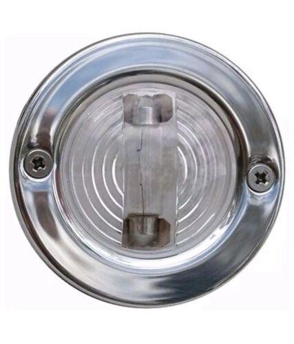 BOAT MARINE Transom Light Round Polished stainless steel 2 mile 7-0577