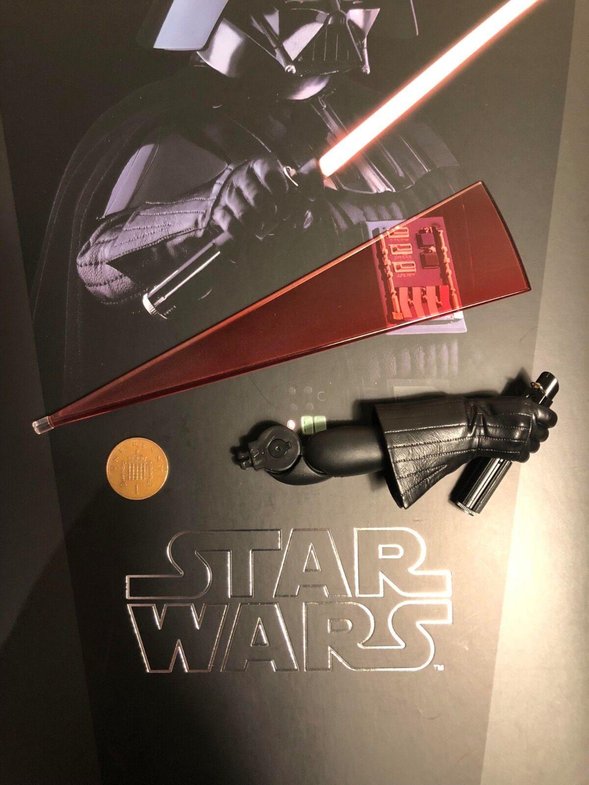 Heißes spielzeug, star - wars - esb darth vader mms452 führte lichtschwert arm locker 1   6 - skala