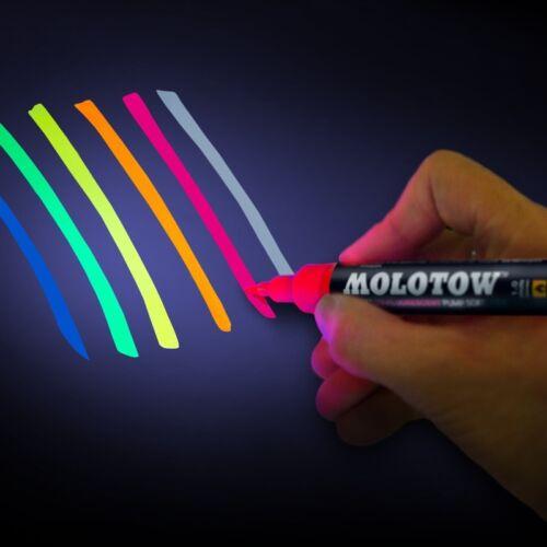 Molotow Paint 1mm Brush UV Fluorescent Pump Softliner Marker Tamiya Gunze