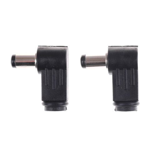 2Pc 2.5x5.5mm Right Angle 90° Male Plug Jack DC Tip Socket Connector AdaptervnTB