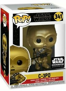 Funko POP Star Wars W//Protector Smuggler/'s Bounty Exclusive #341 C-3PO