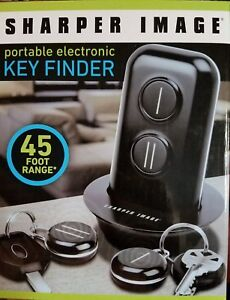New In Box Sharper Image Portable Electronic Key Finder 45ft Range 2