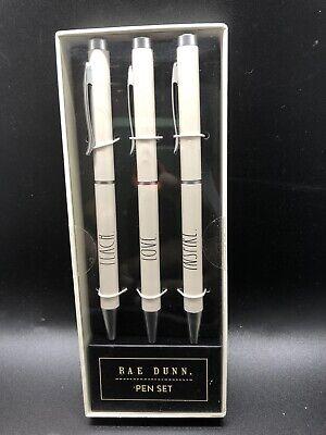 INSPIRE 3 Pens Black Ink Teachers Set RAE DUNN Ballpoint Pen Set TEACH LOVE