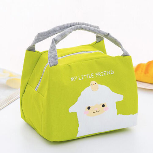 Insulated Lunch Bag Thermal Women Picnic Bag Cooler Fruit Storage Lunch Box W