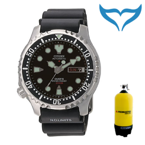 Citizen-Promaster-TaucherUhr-ArmbandUhr-NY0040-09EE-20bar-200m-schwarz-Automatik