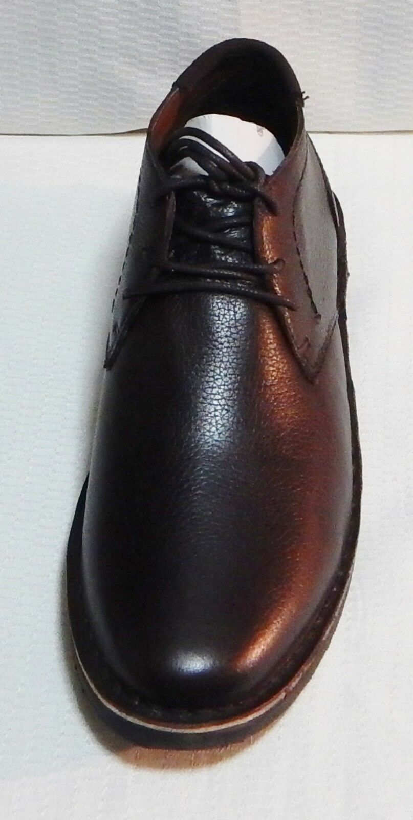 KENNETH COLE DESERT SUN LEATHER CHUKKA BOOT(DARK #3445 BROWN EXTRA LACES)SZ 11.m #3445 BOOT(DARK 0a0440