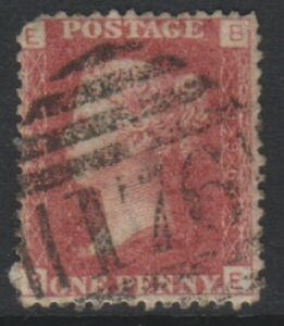 Great Britain/GB - 1858, 1d Penny Red - Letters BE - Plate 196 - Used- SG 43 (f)