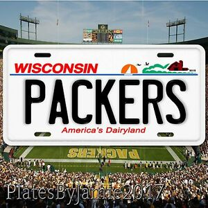 Green-Bay-Packers-Wisconsin-Aluminum-Metal-License-Plate-Tag-NFC-NFL-New-Cool
