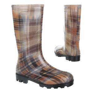Damen Schuhe, GST-F901P, Stiefel, Regenstiefel Gummi, Gummi, Braun, Gr 41
