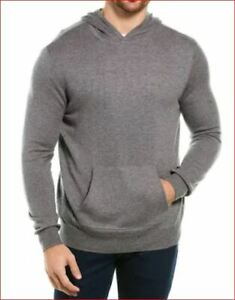 Neuf-Magaschoni-Hommes-Capuche-Pull-Sweat-Capuche-Laine-GM90118M-Gris-Taille-L