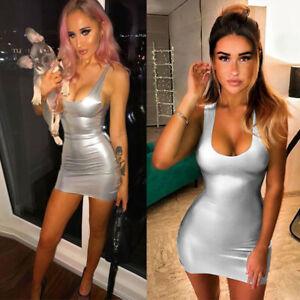 Evening-Mini-Womens-Dress-Bodycon-Club-Bandage-Cocktail-Party-Sleeveless-Short