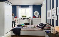 Children's Bedroom Furniture Set – 3 Items White Washed Nautical Coastal Pr