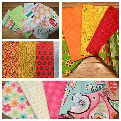 SALE - Fat Quarters Fabric Bundles Floral Gingham Quilt Sew 100% Cotton Craft