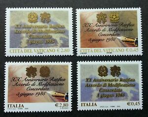 [SJ] Vatican Italy Joint Issue 20th Anniv Modification Agreement 2005 (stamp MNH
