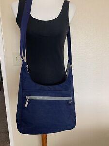 Baggallini Black Nylon Organizer Crossbody Bag