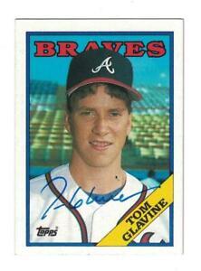 Tom Glavine Signed Autographed 1988 Topps Card Atlanta Braves