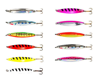 /Offshore Boot-Angeln f/ür Dorsch und Makrele Fladen Fishing/ /100/g oder 200/g Pilkrute mit drei Haken und 5/Federn Set/