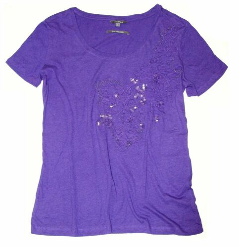 Po Pori Ladies/' Embellished Short Sleeve T-Shirt-NWT Free Shipping