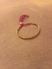 Rose Gold Pink Cord Monica Vinader Fiji Friendship Bracelet RRP£195 New Laetitia