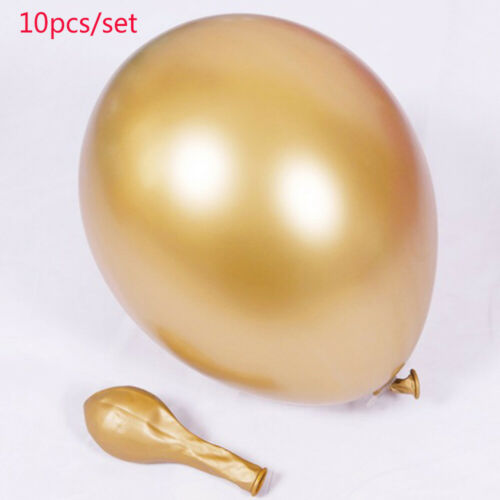 "10pcs 12/"" Glossy Metallic Latex Thick Balloons Wedding Party Birthday Decoration"