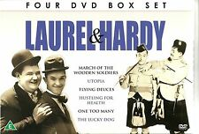 LAUREL & HARDY 4 DVD COLLECTION Inc UTOPIA, FLYING DEUCES, ONE TOO MANY & MORE
