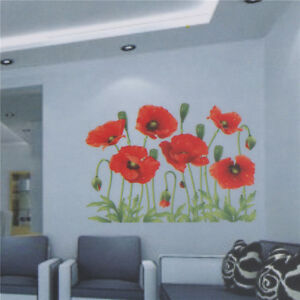 Beautiful-Large-Love-Flower-Removable-Vinyl-Decal-Wall-Sticker-Home-Decor-TDCA