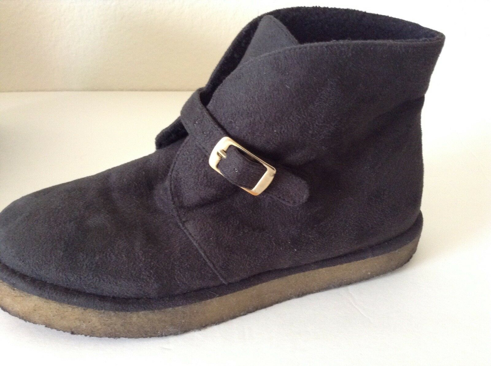 STELLA MCCARTNEY KICKAPOO BLACK VEGAN SUEDE ANKLE ANKLE ANKLE BOOTS SIZE 37  US 7 98f651