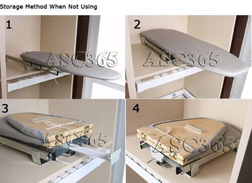 NEW ARRIVAL! Fold-down and Compact Wall-Mounted Ironing Board USA SELLER